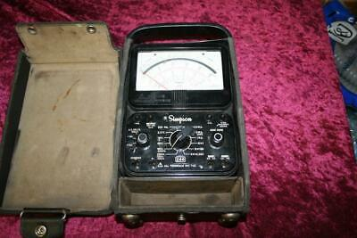 Simpson 260 Series 8 Analog Multi-Meter In Case Tested and Working