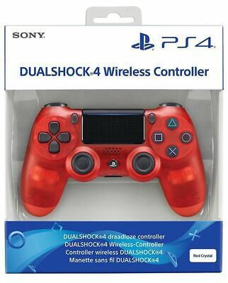PS4 Wireless Controller - Dualshock 4 - Boxed - Red Crystal