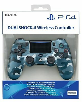 PS4 Wireless Controller - Dualshock 4 - Boxed - Blue Camo