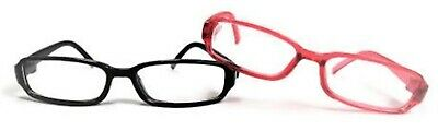 """Pink & Black Rimmed Glasses for 14.5"""" American Girl Wellie Wishers Wisher Dolls"""