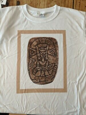 Ojuelos de Jalisco Alien Artifact. Authentic Aztlan Artifact Custom T-shirt. Lrg