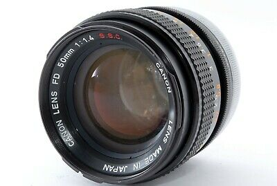 【EXC-!!】 Canon FD 50mm f/ 1.4 S.S.C. SSC MF Standard Lens from Japan A0403