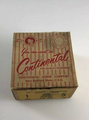 Vintage Holtite-Phillips Continental Brass Wood Screws Box New Bedford Mass USA