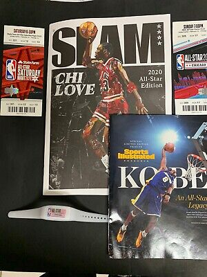 NBA 2020 All-Star Game Slam Magazine, Tickets, Kobe Bryant Magazine and Bracelet