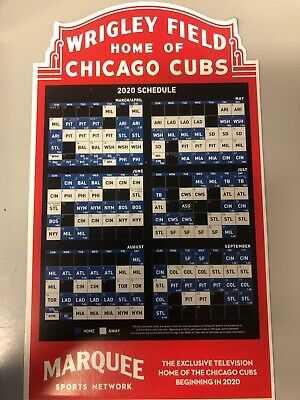 NEW 2020 Chicago Cubs Convention Official Marquee Game Schedule Magnet