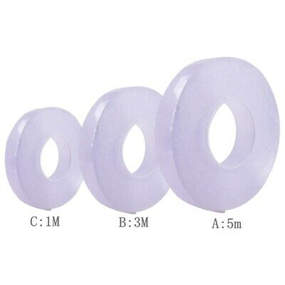 5 Meters Double-sided tape Multifunction Super Sticky Nano Gel Tape Washable