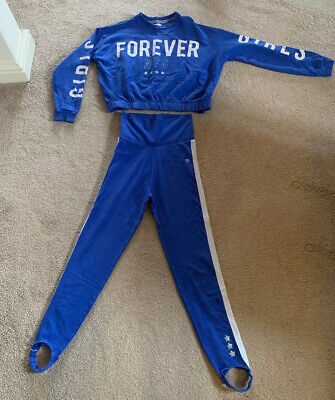 River Island Girls Tracksuit Age 11-12 Years Blue