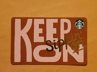 2019 Starbucks Gift Card 'Keep On Sippin On' Retro Look Reloadable Empty RARE