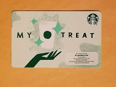 2019 Starbucks Gift Card 'My Treat' Coffee Cup And Hand Reloadable Empty RARE