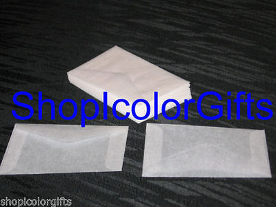 ShopIcolorGifts- 100 Brand New Glassine Envelopes Size #2 (2-5/16 x 3-5/8)
