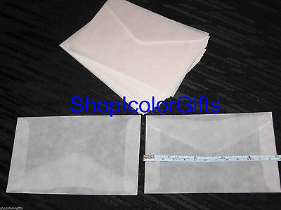 ShopIcolorGifts- 100 Brand New Glassine Envelopes Size #4-1/2  (3-1/8 x 5-1/16)