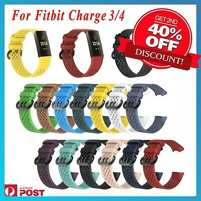 For Fitbit Charge 3 Sports Band Silicone Replacement Strap Wristband