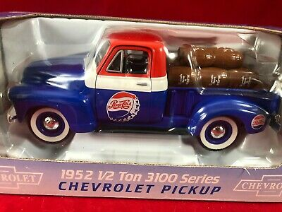 Liberty Limited Edition Die Cast 1952 1/2 Ton 3100 Chevrolet Pepsi Cola Pickup