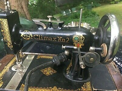 Vintage Antique Climax #2 New Home sewing machine with extras