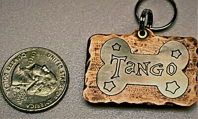 Custom Engraved Personalized Pet Tag Id Dog Cat Name Tags Double Side  Copper