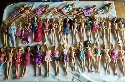 HUGE lot of 41 Barbie Dolls Blondes Brunettes Fashionista and Others