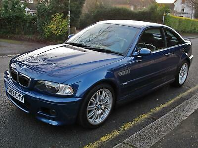 BMW M3 3.2 2002MY E46 COUPE - 2 OWNERS - 37000m FSH - TOPAZ BLUE METALLIC WOW !