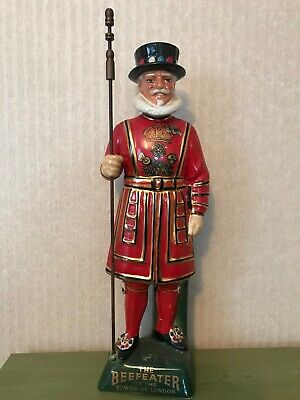 Beefeater Yeoman Staffordshire Carlton Ware Hand Painted Ceramic Gin Decanter