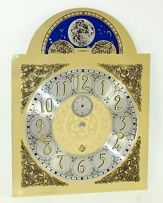 TRIPLE CHIME DIAL - GRANDFATHER CLOCK - MADE GERMANY - NOS w/ Moon Dial - EY185