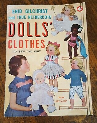 Enid Gilchrist Doll's Clothes To Sew And Knit 1960's  Magazine