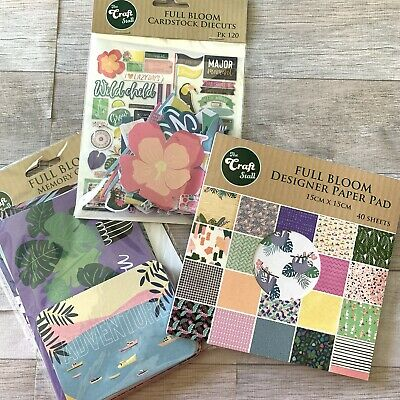 The Craft Stall Full Bloom Scrapbook Set, 6x6 Paper Pad, Die Cuts, Journal Cards