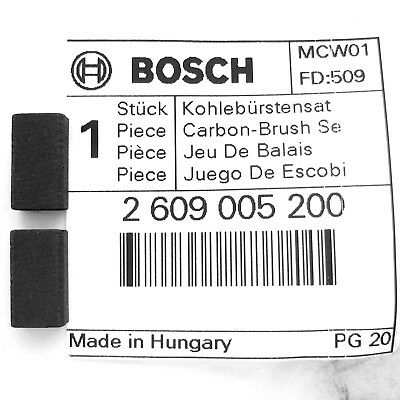 Bosch Carbon Brushes for PWS 750-115 780-125 850-125 Angle Grinder 2609005200