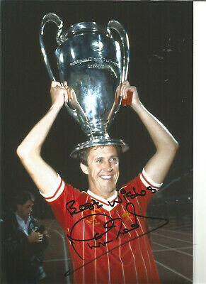 Phil Neal Liverpool 12 x 8 inch hand signed authentic football photo SS321F