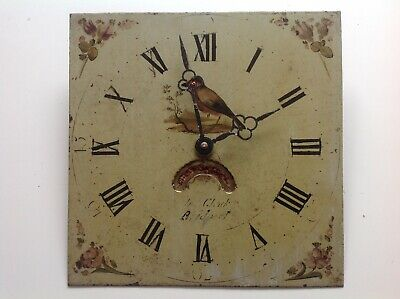 Antique Grandfather Clock Face With Quartz Mechanism Hand Painted  wall Clock