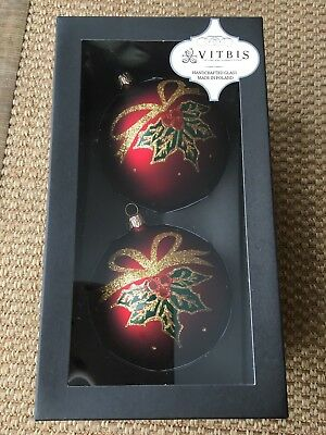LARGE PINEAPPLE GLASS XMAS ORNAMENT MADE IN POLAND BY VITBIS TROPICAL GLITTERED