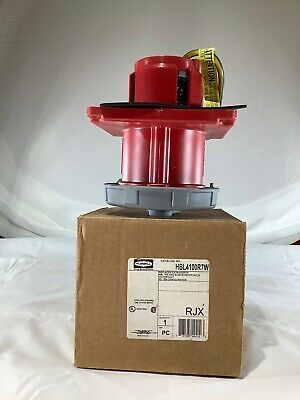HUBBELL HBL4100R7W 100-Amp PIN&SLEEVE RECEPTACLE 4100R7W 480Vac