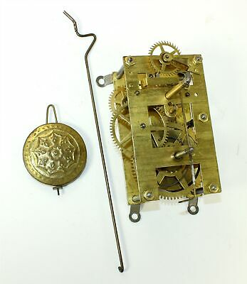 """NEW HAVEN CLOCK MOVEMENT - 9-3/4"""" with PENDULUM BOB - TIME ONLY - GG609"""