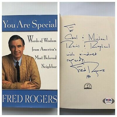 Mister Fred Rogers Signed Autographed 5x7 Rp Photo Mr Rogers Neighborhood 10 95 Picclick