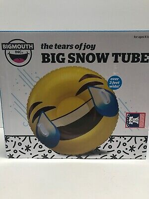 GIANT POLAR BEAR Inflatable Snow Tube Winter Sled Ride Pool Float BigMouth Inc