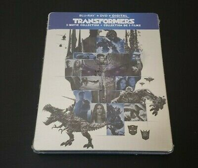 Transformers: 5 Movie Collection (Blu-ray/DVD/Digital) Limited Edition Steebook