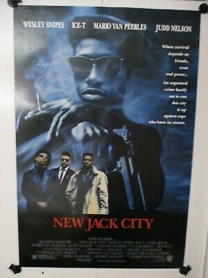"""Movie Silk Poster Wesley Snipes 24/""""x36/"""" 11/""""x17/"""" 1991 New Jack City"""