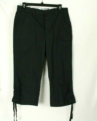 Lee Comfort Waistband Womens Black Capri Cargo Pants Size 8P
