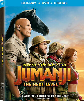 Jumanji The Next Level (Blu-ray + DVD + Digital, 2019)>NEW< W/SLIPCOVER