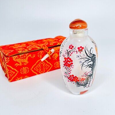 Chinese Inside Painted Glass Snuff Bottle Beautiful