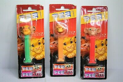 Selection of 3 Lion King PEZ in original packaging