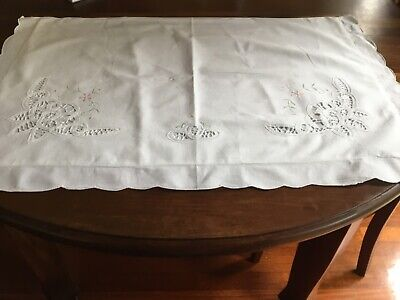 Vintage Embroidered Battenburg Pillowcases