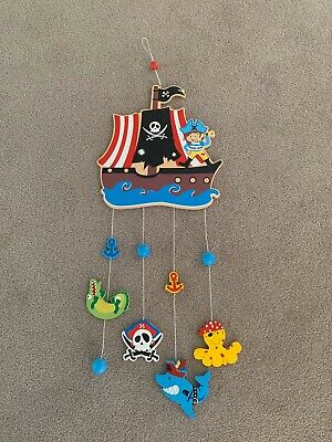Wooden Handpainted Pirate Themed Mobile