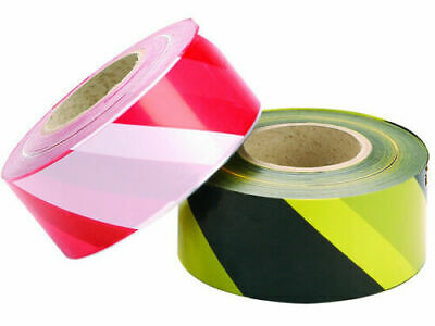 Barrier tape Social Distancing Black/Yellow Red/White  Danger. Non adhesive