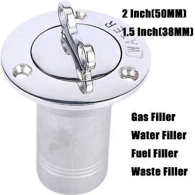 Filler With Key Cap 50MM Amarine-made 2 INCH Boat Deck Water Boat Deck Fill