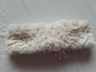 Monsoon Cream Faux Fur Girls Headband