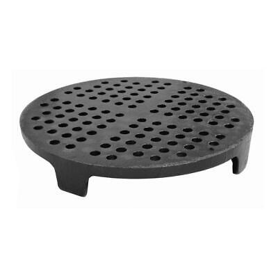 Sewer Pipe Strainer Cast Iron Perforated DWV Legs 8 Inch Durable Black Accessory