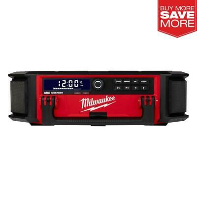 Milwaukee Radio Speaker Built In Charger Cordless PACKOUT Lithium Ion Jobsite