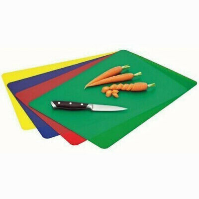 Set Of 4 Flexible Kitchen Chopping Board Hygiene Catering Food Cutting Set New