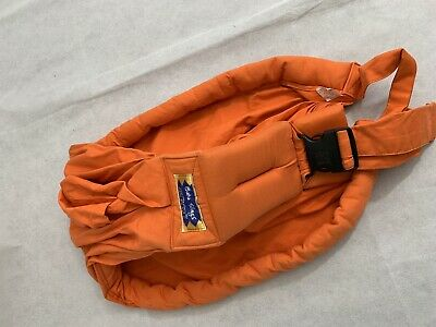 Baba Slings baby wearing attachment parenting Newborn Side Sling cotton orange