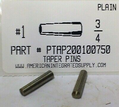 18-8 5//0x1 1//2 Std Taper Pin Pk25-2PZJ5