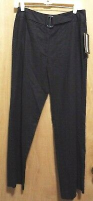 Requirements Womens Black Straight Dress Pants Size 6 Front Zipper MSRP $40.00